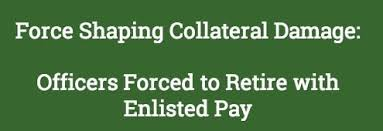 Military Reserve Retirement Pay Chart 2013 Military Forcing Some Officers To Retire With Enlisted Pay