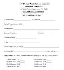 Free Vendor Application Form Template Under Fontanacountryinn Com