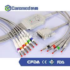China <b>10 Lead</b> Patient <b>ECG</b> / <b>EKG</b> Cable for All <b>Schiller</b> Cardiovit ...