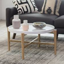 Belham Living James Round Mid Century Modern Marble Coffee Table | Hayneedle