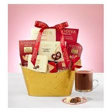 Ntw godiva ceramic gift mug hot cocoa. Godiva Gourmet Basket Deluxe Tahlequah Florist A Bloom Flowers And Gifts Local Flower Delivery Tahlequah Ok 74464