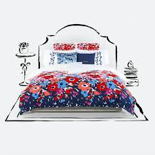 live dorm life colorfully in a super bright and cheery poppy fl mini comforter set from courtesy of bed bath and beyond
