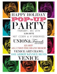 Happy Holiday Pop Up Party Union Friends Pop Up Shop Confection