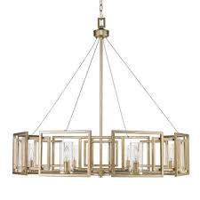 golden lighting marco white gold eight light chandelier with clear glass shade