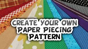 Paper Piecing Patterns Enchanting Creating Your Own Paper Piecing Design How To Whitney Sews YouTube
