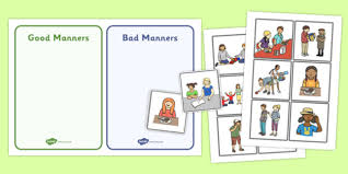 Good Manners Chart For Class 1 Good Manners Sorting And Discussion Cards Good Manners