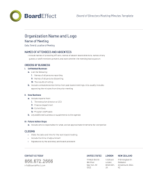 Minutes Of The Meeting Board Meeting Minutes Template And Best Practices Boardeffect