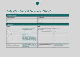 Method Of Statement Sample Awesome Of Blank Method Statement Template And Risk Assessment Pack 37