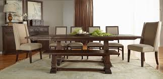 Hudson Extension Dining Table Rustic Java Setting 4
