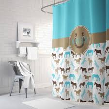cool shower curtains for kids. equestrian bathroom decor unique horse shower curtain for boys and girls with monogrammed name cool curtains kids