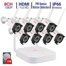 <b>Tonton 1080P</b> Wireless CCTV System 2M 8ch <b>HD wi fi NVR</b> kit ...