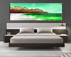 1 piece large pictures, bedroom canvas wall art, beach decor, ocean green  canvas