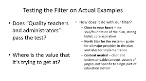 strategic planning prototype feedback cycle ppt testing the filter on actual examples does quality teachers and administrators pass the test