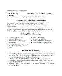 Culinary Resume Template Professional Chef Resume Resume Example