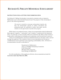 Letters For Scholarships Letters Of Recommendation For Scholarships Who Should Write Writing