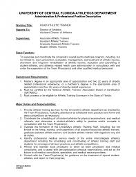 extraordinary athletic trainer resume sample sample athletic training resume samples