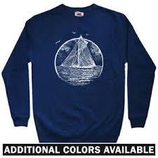 Details About Vintage Sailboat Mens Sweatshirt Crewneck S 3x Gift Sailing Boat Sails Sailor