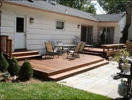 summit nj ground level ipe deck