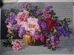 Вышивка цветы сирени