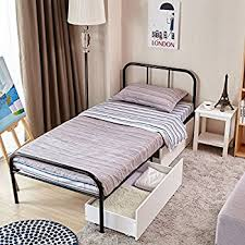 Amazon GreenForest Twin Size Bed Frame Stable Metal Slat