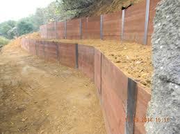 i beam wood retaining wall google