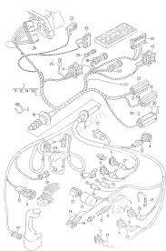 Wiring harness front right f 44 g 000 001>> audi 5000 turbo quattro a5tq usa 1987 year