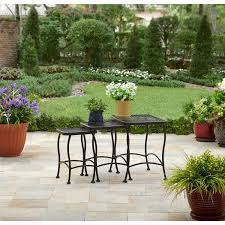 Better Homes and Gardens Seacliff Wrought Iron Nesting Side Tables ...