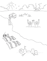 Small Picture Beach Scene Coloring Pages Coloring Home