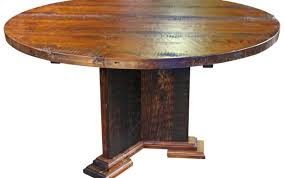 wood reclaimed chairs dining table wooden pedestal inch chair rustic large solid round metal set rooms