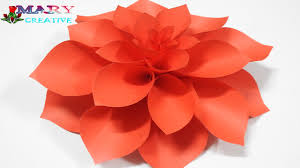Dahlia Flower Making With Paper Mary Creative Origami 14 Paper Dahlia Flower Diy Dahlia Flower Tutorial