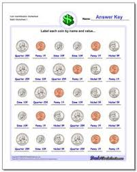 Coin Value Chart Elementary Coin Identification