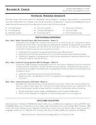 Fitness Trainer Resume Training Manager Job Description Template