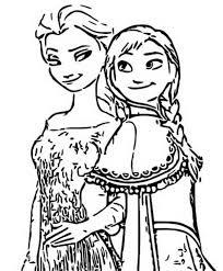 Kleurplaat Frozen 2 Anna En Elsa 2