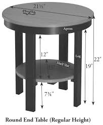 round end table rh ld