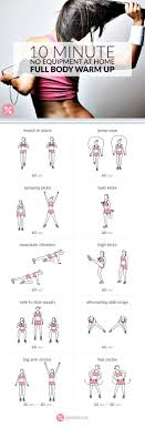 10 minute no equipment at home full body warm up