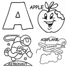 the letter a coloring pages printable