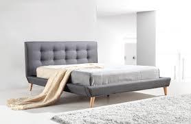 queen linen fabric deluxe bed frame grey z2811