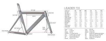 Leader 725 Frame Size Chart Framexwall Com