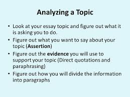 writing an analysis for high school aec model standards elaccrl  analyzing a topic look at your essay topic and figure out what it is asking you