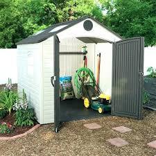 garden shed plastic outdoor storage sheds lifetime 8 x kit resin pl