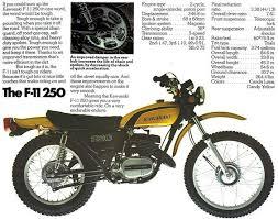 kawasaki f11 250cc enduro motorcycle i had a lime green f 11 not
