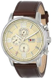 amazon com tommy hilfiger men s 1710337 stainless steel brown amazon com tommy hilfiger men s 1710337 stainless steel brown leather watch tommy hilfiger watches