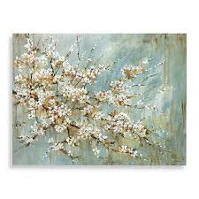 hand embellished by artist l carson this beautiful blossom wall art uses the canvas giclée method of ink jet printing to create a high quality