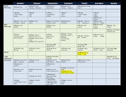 Group Fitness Calendar Templates At Allbusinesstemplates
