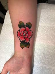 First Tattoo Magnolia Blossom From Mulan Done By Clabe At Anchor
