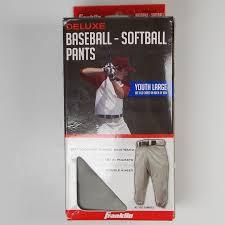 Franklin Deluxe Baseball Softball Pants Youth Lg Nwt