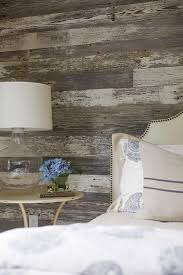 rustic cottage bedroom with barn board