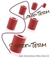 long term and short term career goals examples long term career goals short term career goals