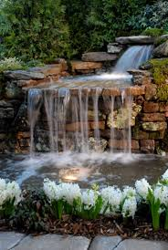 Lawn & Garden:Backyard Waterfall Designs for Something Good and Special  Relaxing Backyard Waterfalls Ideas