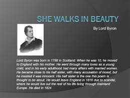 she walks in beauty by lord byron ppt video online  she walks in beauty by lord byron